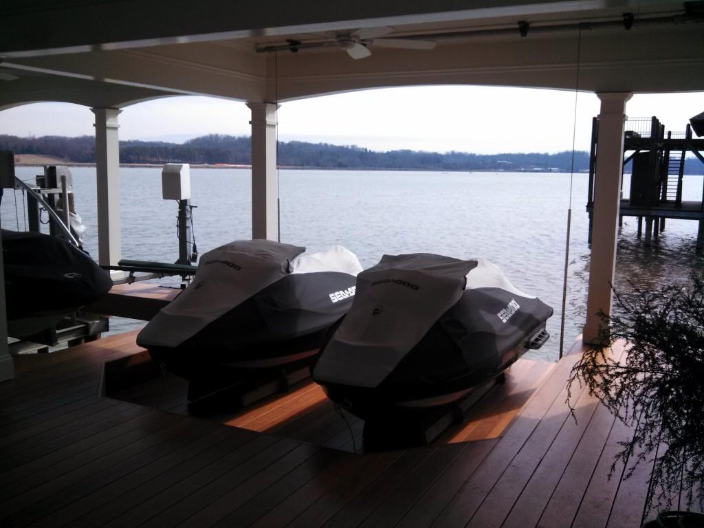PWC and jet ski lift installation
