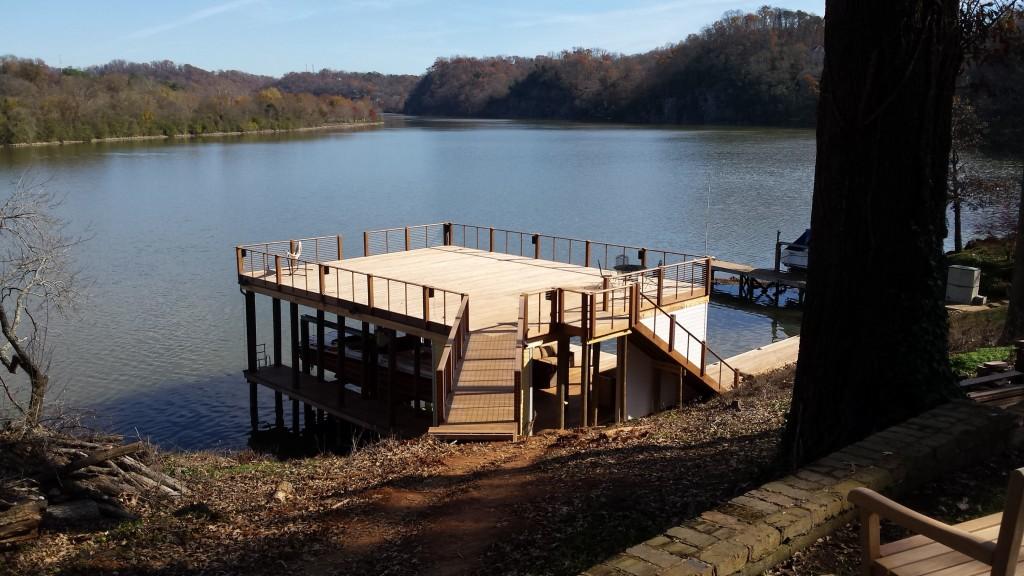 custom dock built in Morganton, TN